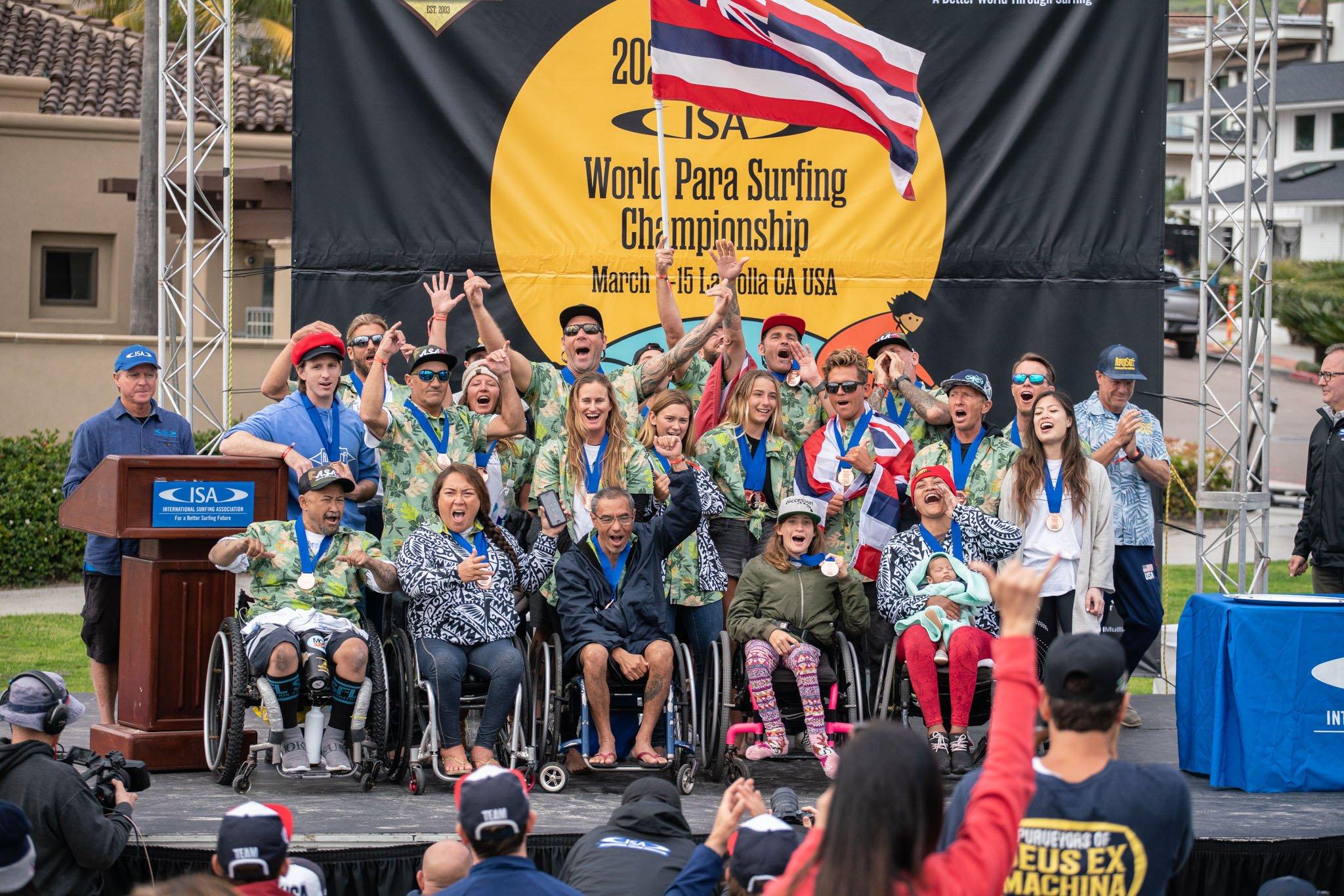 2020 Team Hawaii World Parasurfing Team